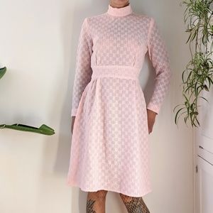 Vintage sheer pink dress